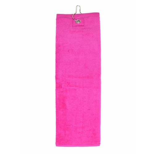 The One Towelling  Handdoek - Golf - Magenta