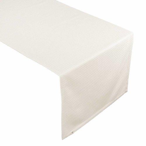 Walra Tafelloper Cotton Cubes - Kiezel grijs