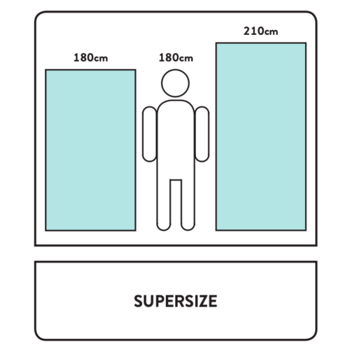 The One Towelling  Super Size - Handdoek - 100x210 cm - Navy Blauw