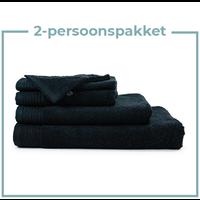 2 Persoons -  Handdoekenpakket - Zwart