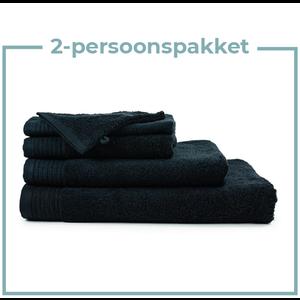 The One Towelling  2 Persoons -  Handdoekenpakket - Zwart