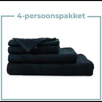 4 Persoons - Handdoekenpakket - Zwart