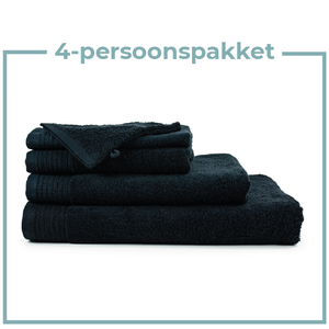 The One Towelling  4 Persoons - Handdoekenpakket - Zwart
