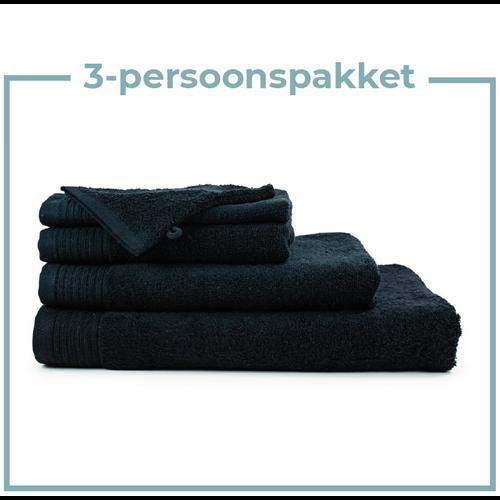 The One Towelling  3 Persoons -  Handdoekenpakket - Zwart