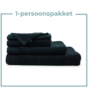 The One Towelling  1 Persoons -  Handdoekenpakket  - Zwart