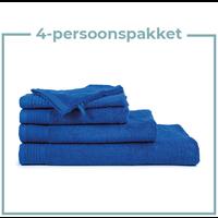 4 Persoons - Handdoekenpakket - Kobalt blauw