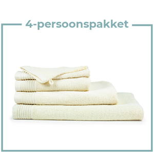The One Towelling  4 Persoons - Handdoekenpakket - Beige