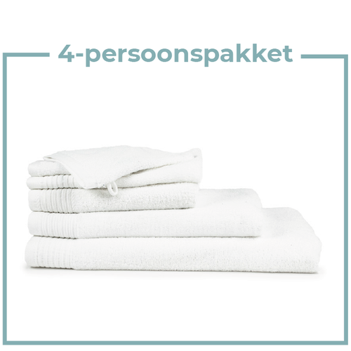 The One Towelling  4 Persoons - Handdoekenpakket - Wit