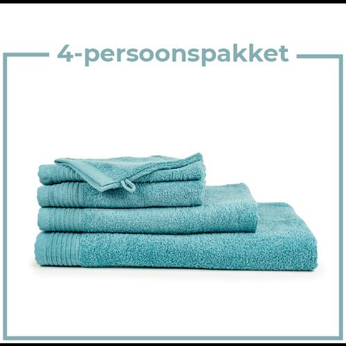 The One Towelling  4 Persoons - Handdoekenpakket - Petrol