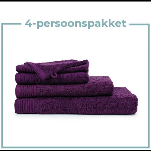 The One Towelling  4 Persoons - Handdoekenpakket - Aubergine