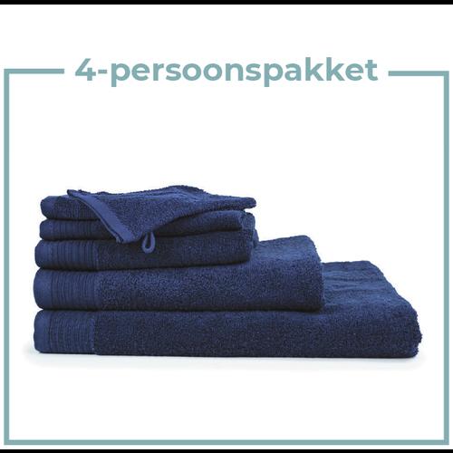 The One Towelling  4 Persoons - Handdoekenpakket - Navy blauw