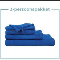 3 Persoons - Handdoekenpakket - Kobalt blauw