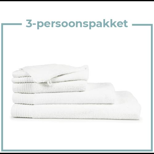 The One Towelling  3 Persoons - Handdoekenpakket - Wit