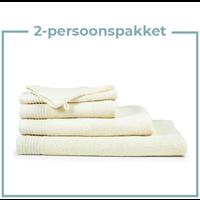 2 Persoons -  Handdoekenpakket - Beige