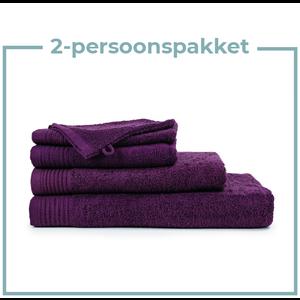 The One Towelling  2 Persoons -  Handdoekenpakket - Aubergine