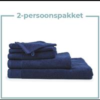 2 Persoons -  Handdoekenpakket - Navy blauw