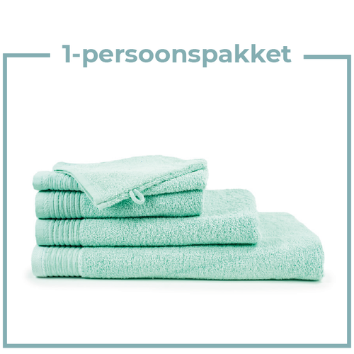 The One Towelling  1 Persoons -  Handdoekenpakket - Mint