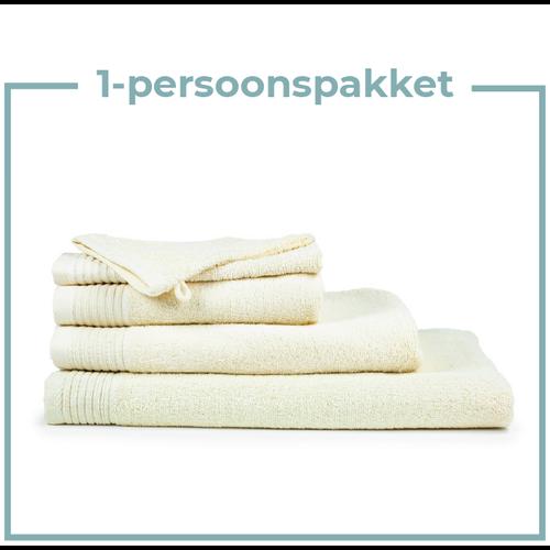 The One Towelling  1 Persoons -  Handdoekenpakket - Beige