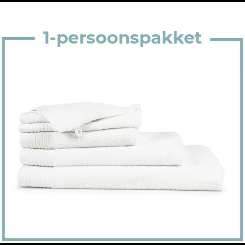 The One Towelling  1 Persoons -  Handdoekenpakket - Wit