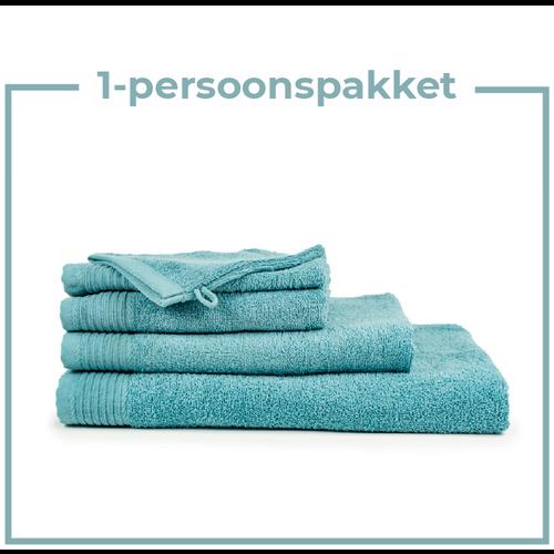 The One Towelling  1 Persoons -  Handdoekenpakket - Petrol