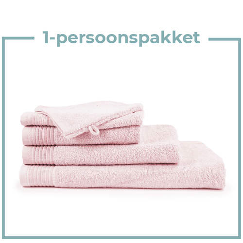 The One Towelling  1 Persoons -  Handdoekenpakket - Licht roze