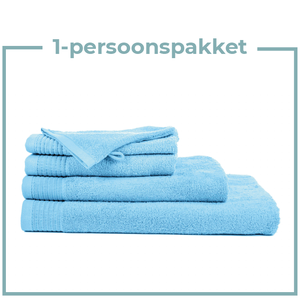 The One Towelling  1 Persoons -  Handdoekenpakket - Licht blauw
