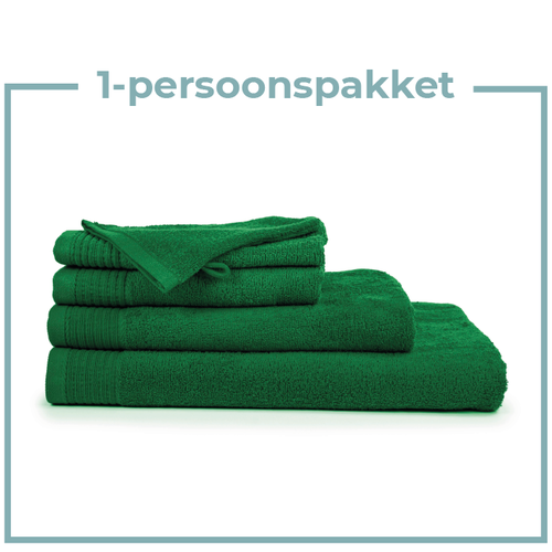 The One Towelling  1 Persoons -  Handdoekenpakket - Groen