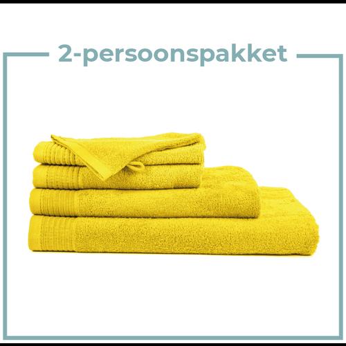 The One Towelling  2 Persoons -  Handdoekenpakket - Geel