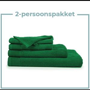 The One Towelling  2 Persoons -  Handdoekenpakket - Groen