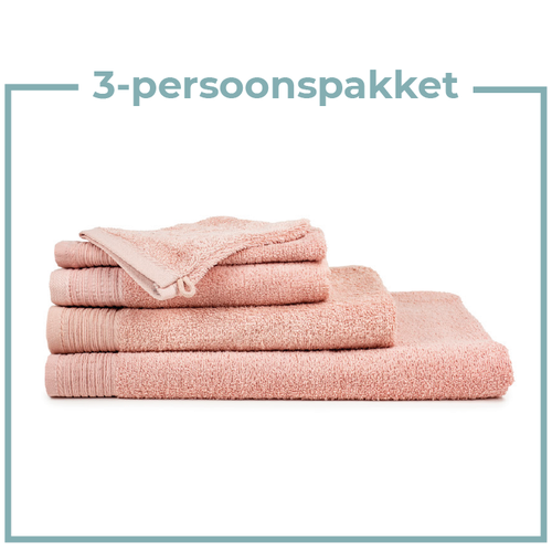 The One Towelling  3 Persoons - Handdoekenpakket - Zalm roze