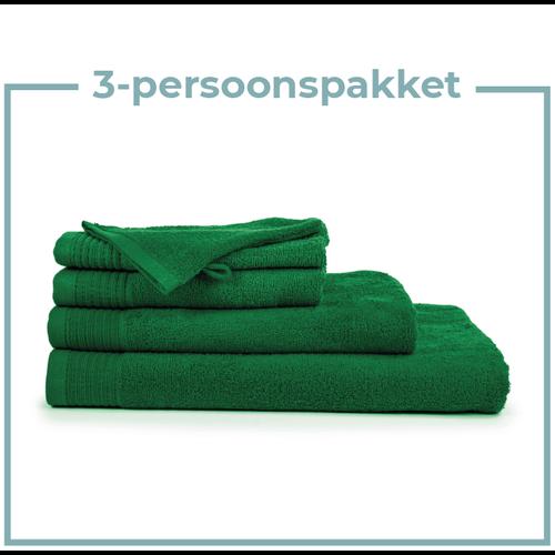 The One Towelling  3 Persoons - Handdoekenpakket - Groen