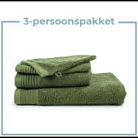 3 Persoons - Handdoekenpakket - olijf groen