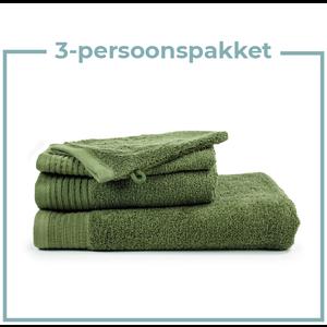 The One Towelling  3 Persoons - Handdoekenpakket - olijf groen