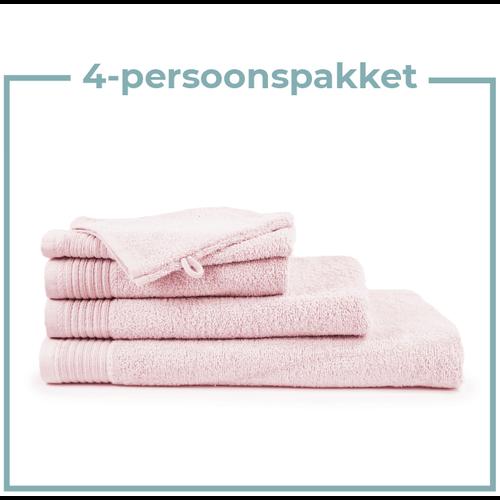 The One Towelling  4 Persoons - Handdoekenpakket - Licht roze