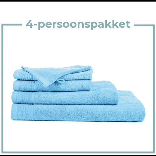 The One Towelling  4 Persoons - Handdoekenpakket - Licht blauw