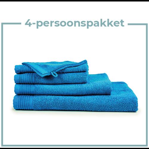 The One Towelling  4 Persoons - Handdoekenpakket - Turquoise