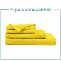 4 Persoons - Handdoekenpakket - Geel
