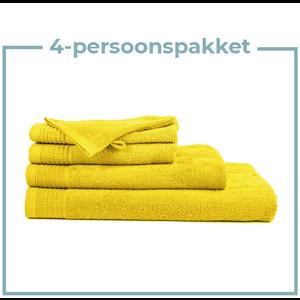 The One Towelling  4 Persoons - Handdoekenpakket - Geel