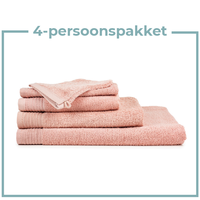 4 Persoons - Handdoekenpakket - Zalm roze