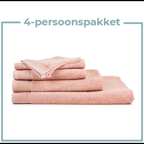 The One Towelling  4 Persoons - Handdoekenpakket - Zalm roze