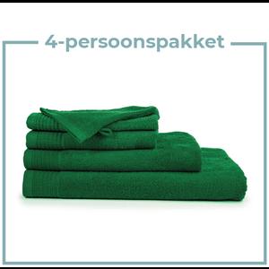 The One Towelling  4 Persoons - Handdoekenpakket - Groen