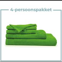 4 Persoons - Handdoekenpakket - Lime groen