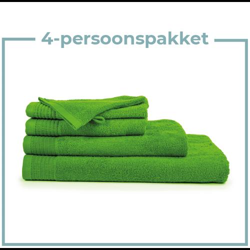 The One Towelling  4 Persoons - Handdoekenpakket - Lime groen