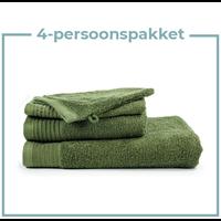4 Persoons - Handdoekenpakket - Olijf groen