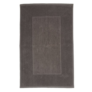 The One Towelling  Badmat - Cursive - Taupe