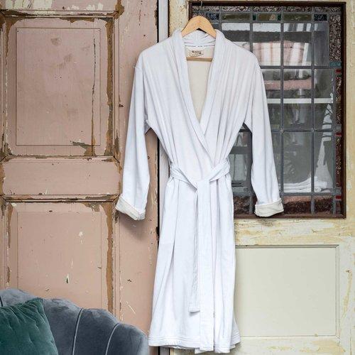 Walra Badjas - Soft Jersey - Wit/Kiezelgrijs