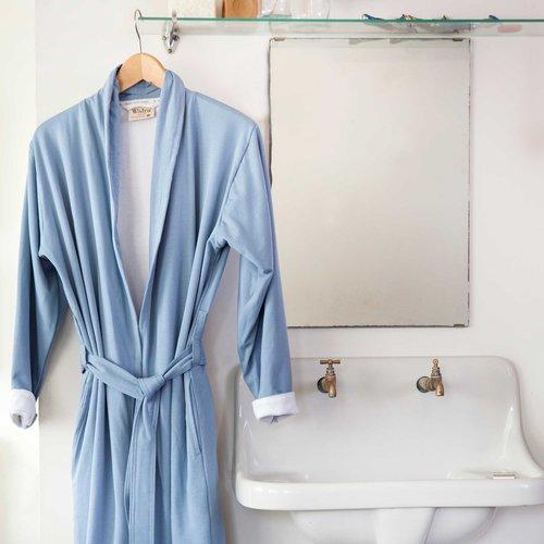 Walra Badjas - Soft Jersey - Blauw/Wit