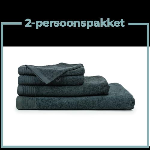 The One Towelling  2 Persoons -  Handdoekenpakket - Antraciet