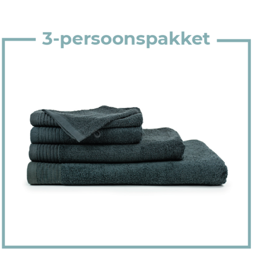 The One Towelling  3 Persoons - Handdoekenpakket - Antraciet
