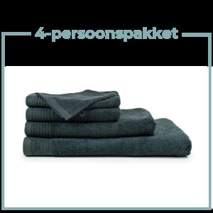 The One Towelling  4 Persoons - Handdoekenpakket - Antraciet